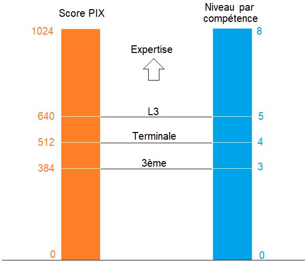 niveaux PIX